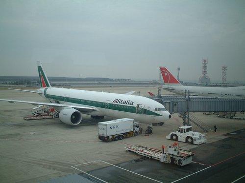 ミラノ行き飛行機