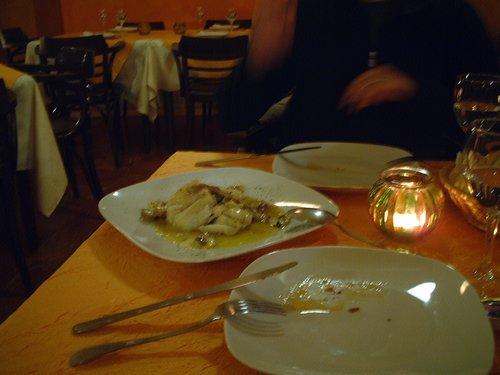 塩過ぎた魚料理