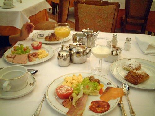 アルハンブラパレスの朝食