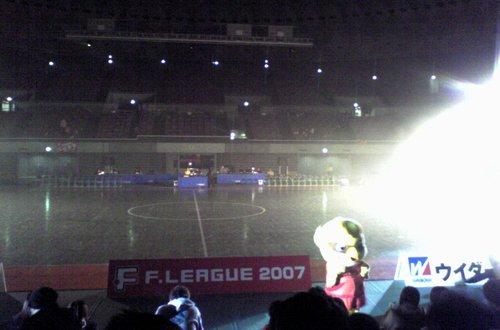 試合前の光景