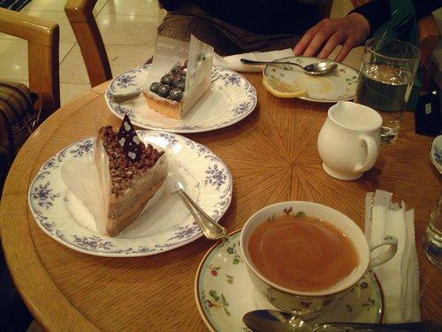 ホテルでのケーキ