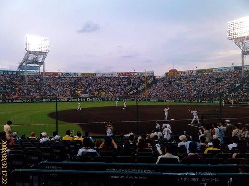 阪神の練習風景